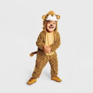 Toddler Plush Lion Halloween Costume Jumpsuit